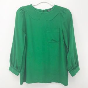 Marc by Marc Jacobs | Green Silk Blouse